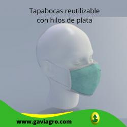 Tapabocas reutilizable con...