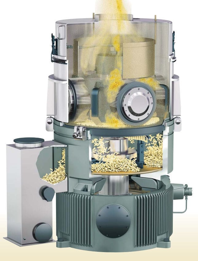 Wooden pelleting plant